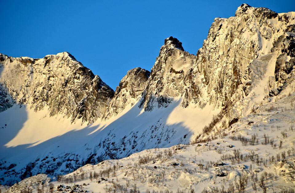 Skitouren auf Senja, Norwegen